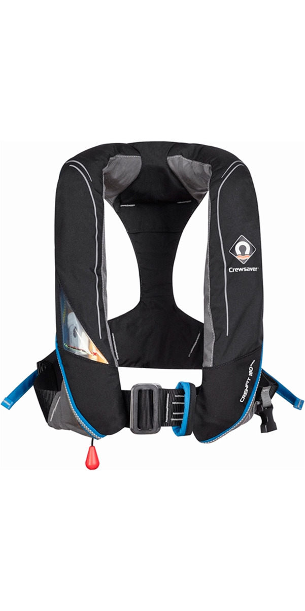 2016 Crewsaver Crewfit 180N Pro Manual With Harness Lifejacket Black 9025BKM