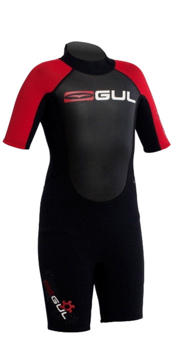 **2015 Gul Response 3/2mm JUNIOR  SHORTY in Black/Red RE3322