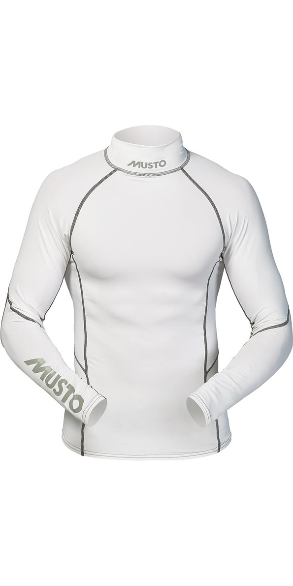 *2014 Musto LONG Sleeve Rash vest in White/Silver SO1061