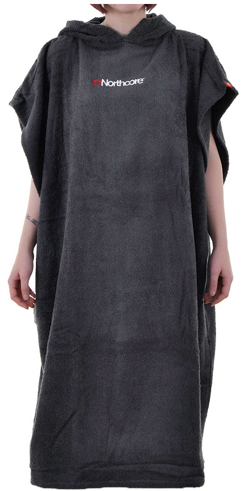 2015 Northcore Beach Basha Poncho / Changing Robe GREY NOCO24C