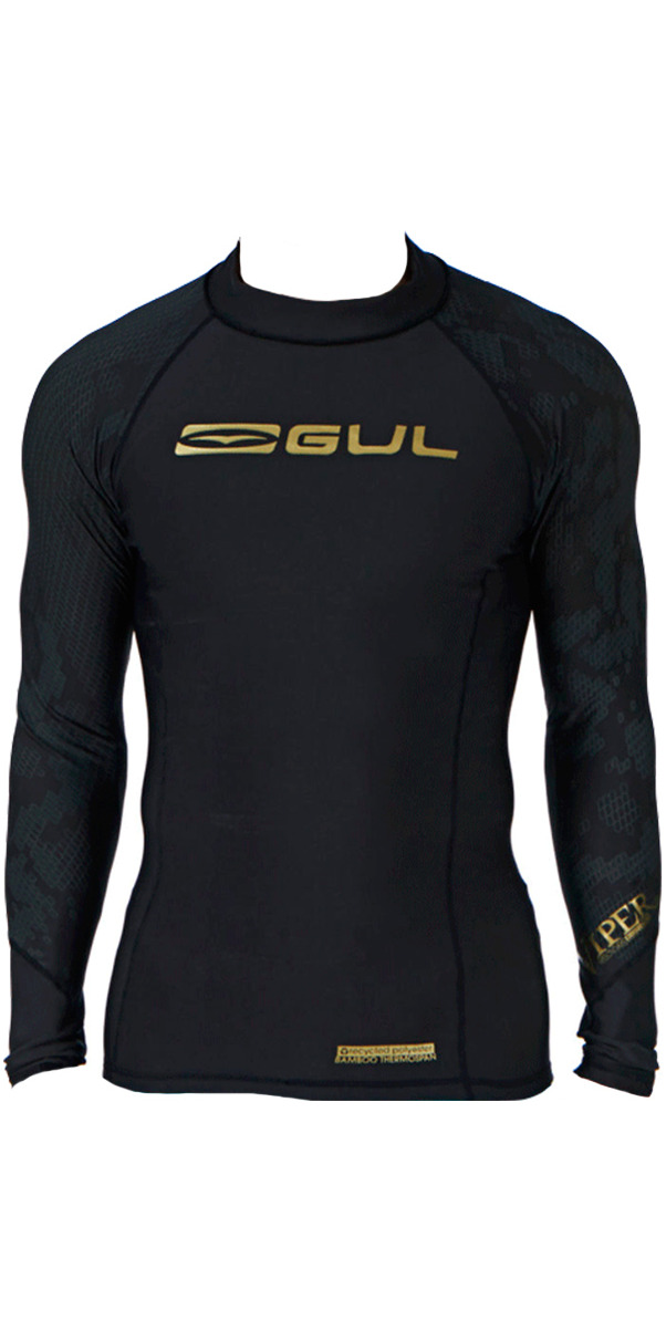 2016 Gul Viper Recore L/S Thermal Rash Vest - Black RG0351