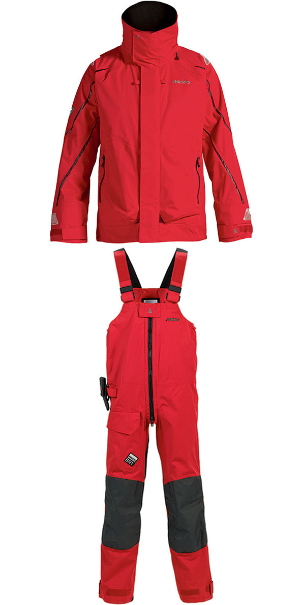 2014 Musto BR1 Channel Jacket SB1294 & Trouser SB1234 Combi Set Red
