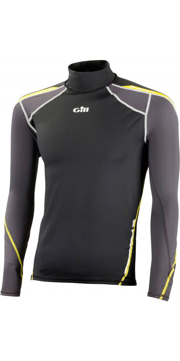 Gill UV Sport Long Sleeve Rash Vest Black/Graphite 4420