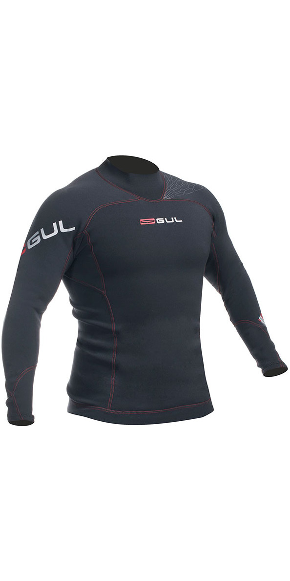 2016 Gul Profile 3mm Long Sleeve Thermo Top Black AC0067