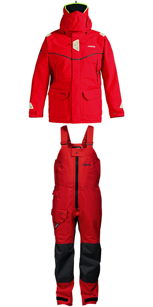 2016 MUSTO MPX GORETEX Offshore Jacket SM1513 + Trouser SM1505 Combi Set RED
