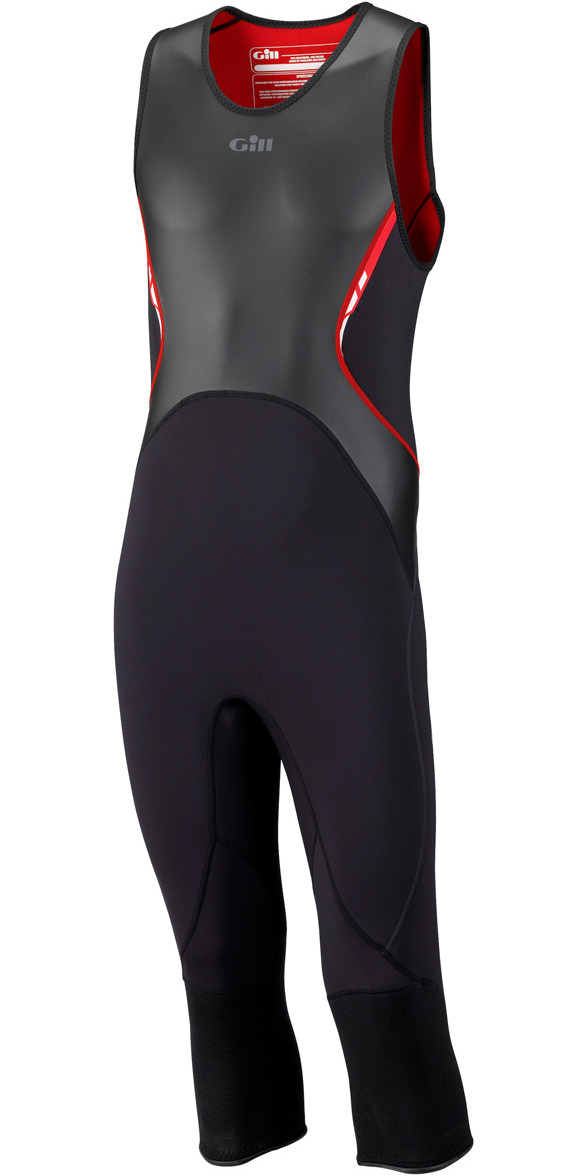 2015 Gill Speedskin 1.5mm 3/4 length Wetsuit BLACK 4504