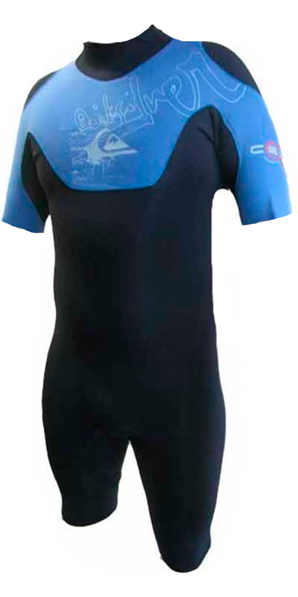 Quiksilver Cell 2mm Shorty Wetsuit Blue/Black CL65A