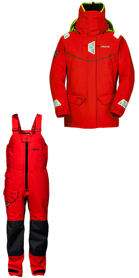 2015 MUSTO MPX GORETEX Offshore Jacket SM1513 + Trouser SM1505 Combi Set RED