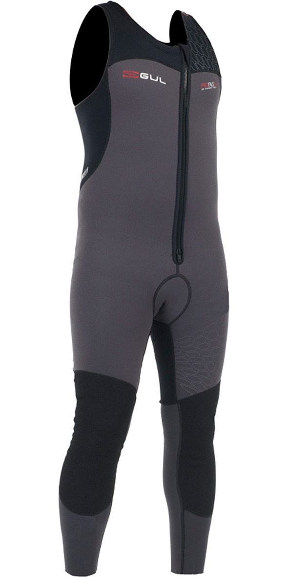 2015 Gul Profile 3/2mm FrontZip Long John Wetsuit Black/Graphite PR4303 - 2ND