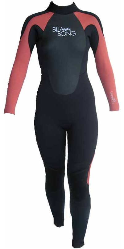 2015 Billabong Ladies Launch 3/2mm Wetsuit in Black/CHERRY S43G03
