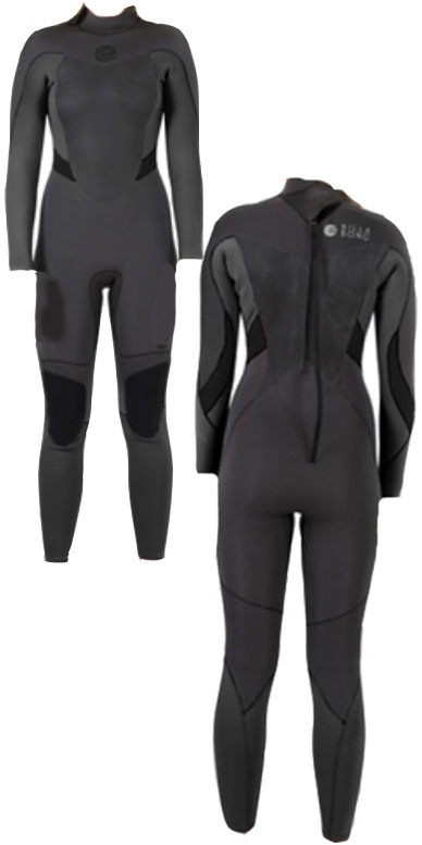 2014 Billabong Synergy LADIES 5/4/3mm Wetsuit Back Zip in BLACK N45G04