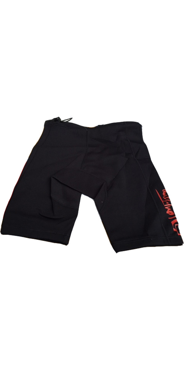 Quiksilver Syncro 1mm Neoprene Reef Shorts in BLACK/RED SY85A