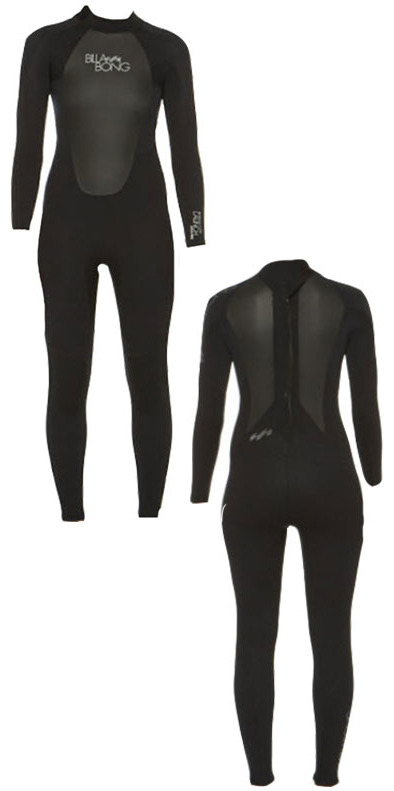 2015 Billabong Ladies Launch 4/3mm GBS Wetsuit in Black O44G01/G44G01