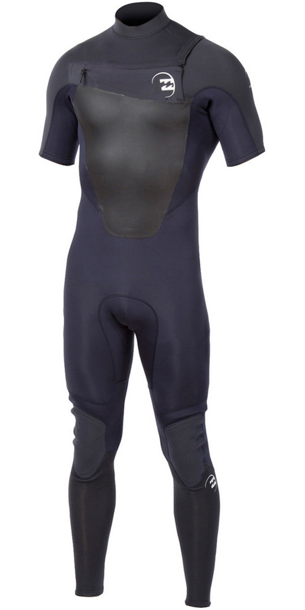 2015 Billabong Foil 2mm S/S Chest Zip GBS Wetsuit GRAPHITE S42M19