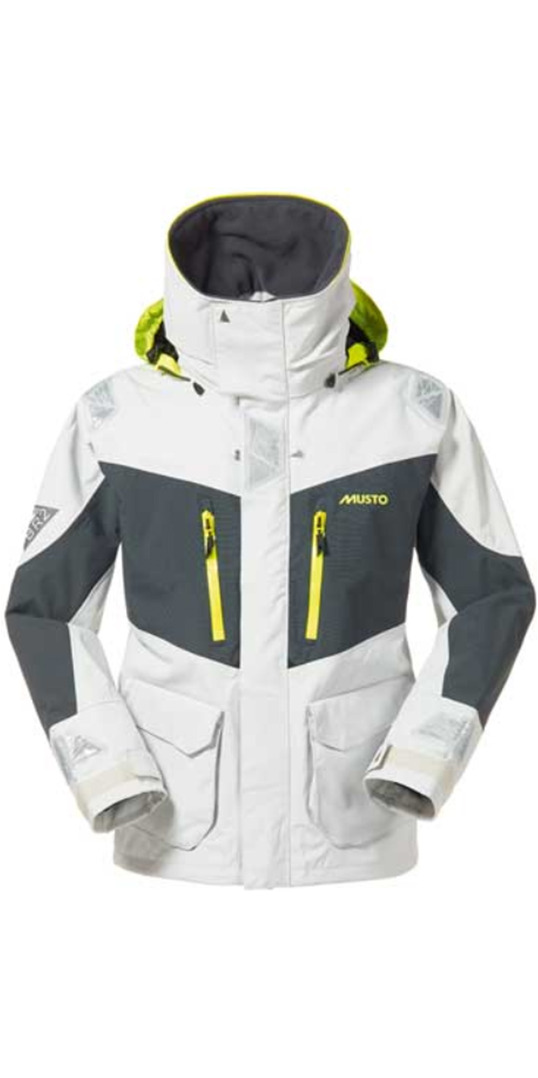 2015 Musto BR2 Offshore Jacket Platinum/Dark Grey SB0033