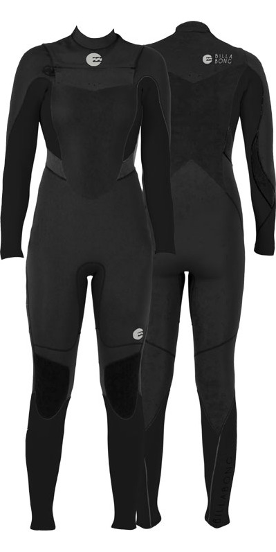 2014 Billabong Synergy LADIES 5/4/3mm CHEST ZIP Wetsuit in Black N45G03