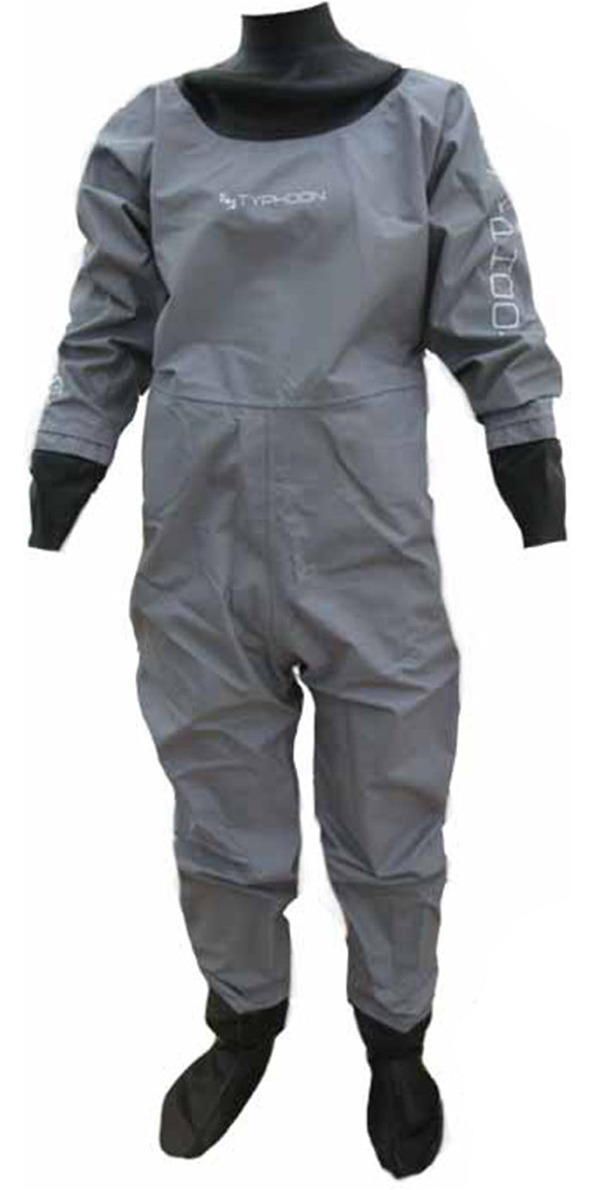 Typhoon Junior Rookie Drysuit in GREY  with Latex Socks 100135