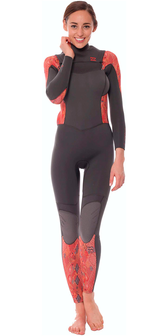 2015/16 Billabong Ladies Synergy 4/3mm Chest Zip Wetsuit Guatemala U44G03