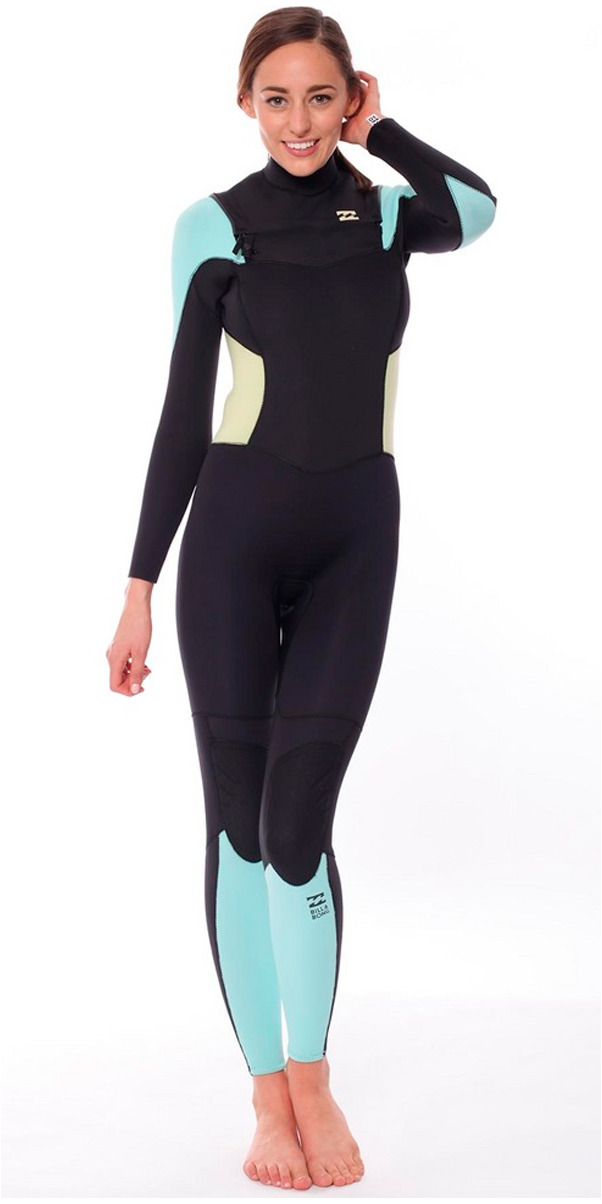 2015/16 Billabong Ladies Synergy 4/3mm Chest Zip Wetsuit ICE U44G03