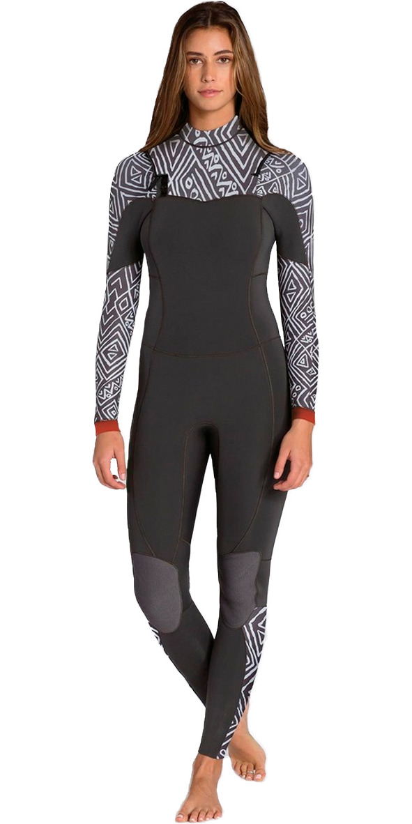 2015/16 Billabong Ladies Salty Dayz 4/3mm Chest Zip Wetsuit - GEO U44G01