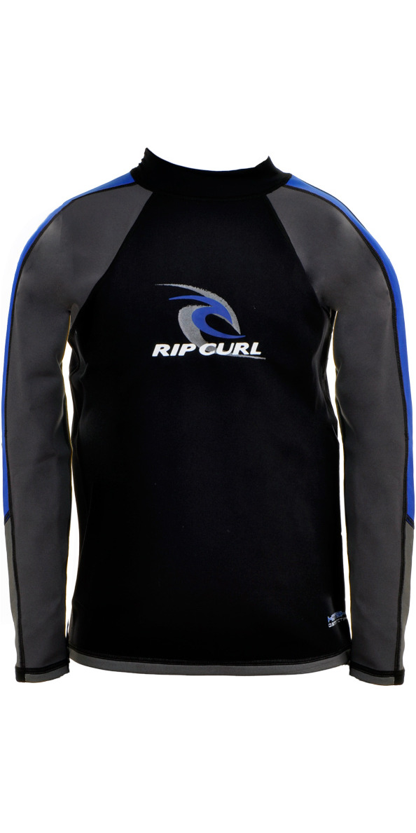Rip Curl Junior Classic Long Sleeve Hotskin 0.5mm Top Black/Blue/Grey W8366J