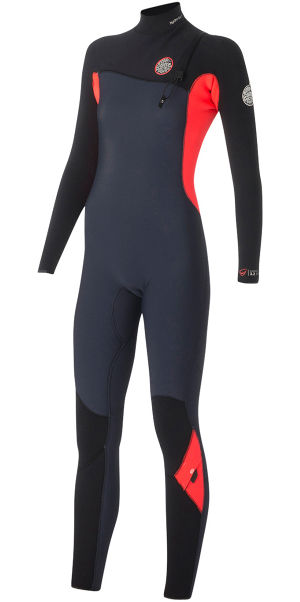 2015/16 Rip Curl Womens G-Bomb 3/2mm GBS Zip-free Wetsuit Slate WSM5HG