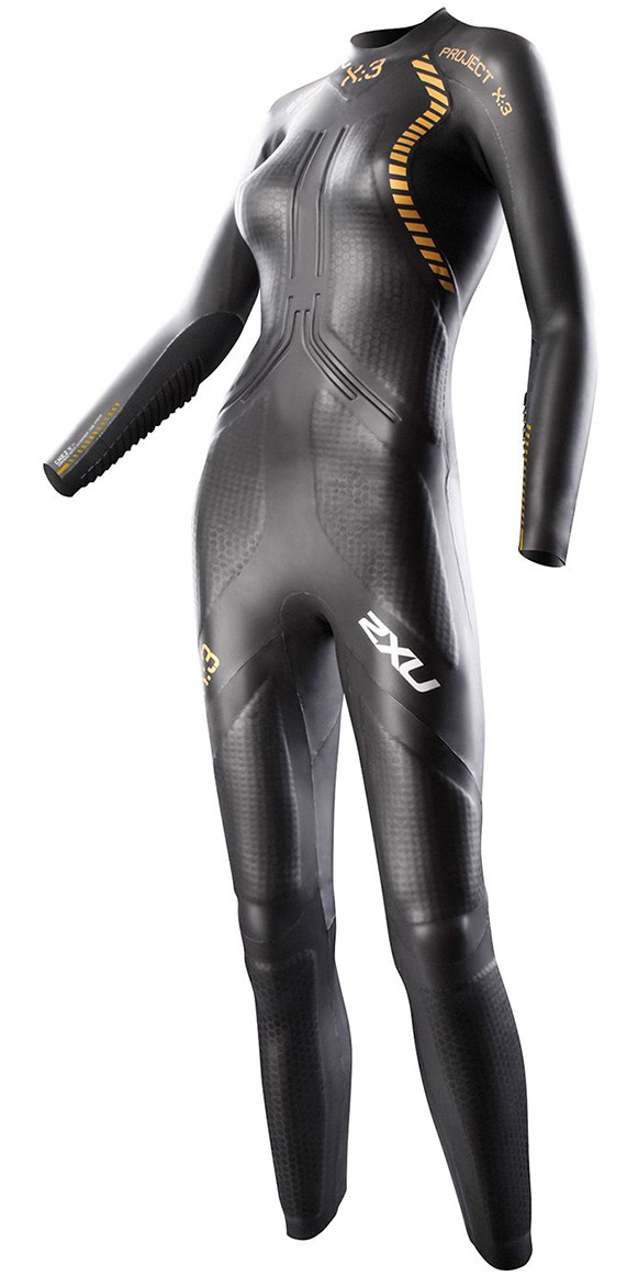 2014 2XU Ladies X:3 Project X TRIATHLON Wetsuit in Black/Gold WW2354