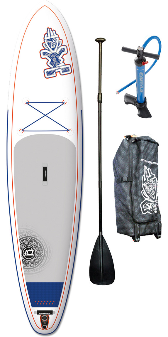 "Ex Demo 2015 Starboard Astro Atlas ZEN Inflatable Stand Up Paddle Board 12' x 33"" + Bag, V8 Double Action Pump & FREE paddle"
