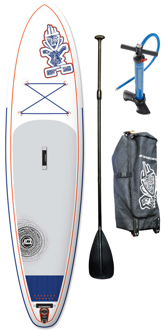 "Ex Demo 2015 Starboard Astro Blend ZEN Inflatable Stand Up Paddle Board 11'2 x 32"" + Bag, V8 Double Action Pump & FREE paddle"