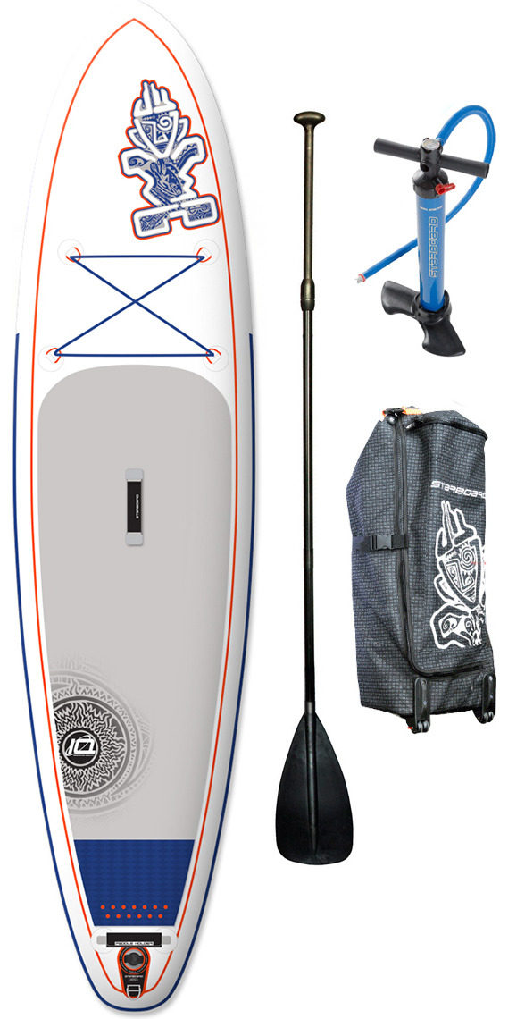 "2015 Starboard Astro Drive ZEN Inflatable Stand Up Paddle Board 10'5 x 30"" + Bag, V8 Double Action Pump & FREE paddle"