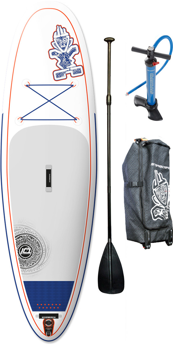 2015 Starboard Astro Whopper ZEN Inflatable Stand Up Paddle Board 10' x 35 + Bag, V8 Double Action Pump & FREE paddle