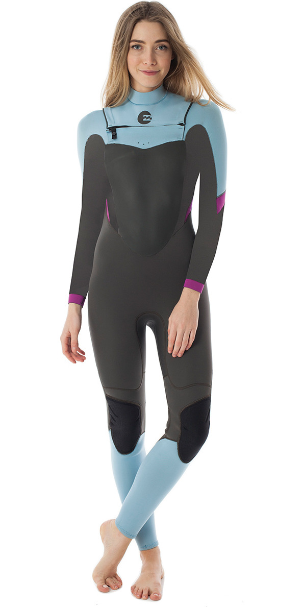 2015 Billabong Synergy Ladies 3/2mm Chest Zip Wetsuit in Ice Q43G01