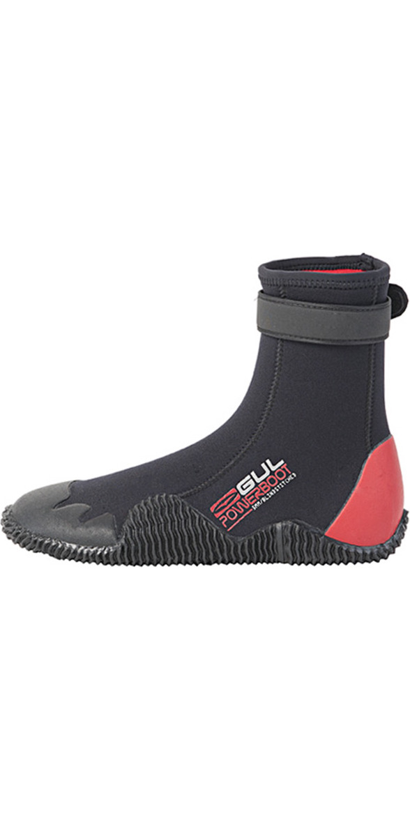 2015 Gul Power 5mm Round Toe Boot BO1263 Black/RED - New Style