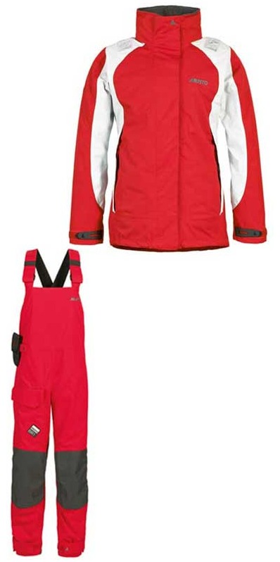 2013 Musto BR1 LADIES Inshore Jacket SB122W6 & Trouser SB123W4 Combi Set RED - NEW STYLE