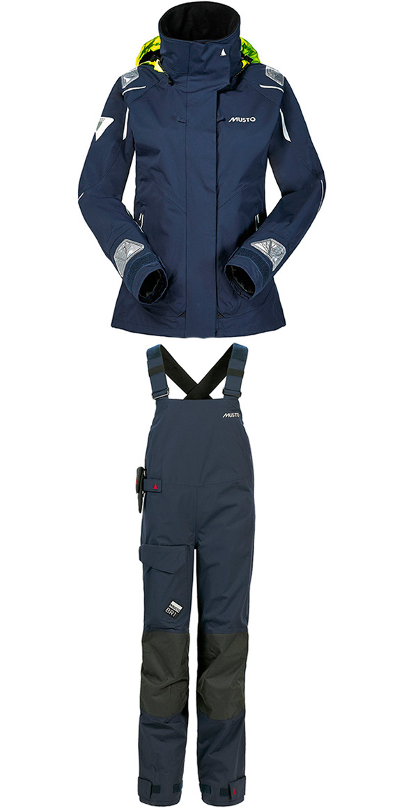 2015 Musto BR1 Ladies Channel Jacket SB129W4 & Dropseat Trouser NAVY SB123W4 COMBI SET