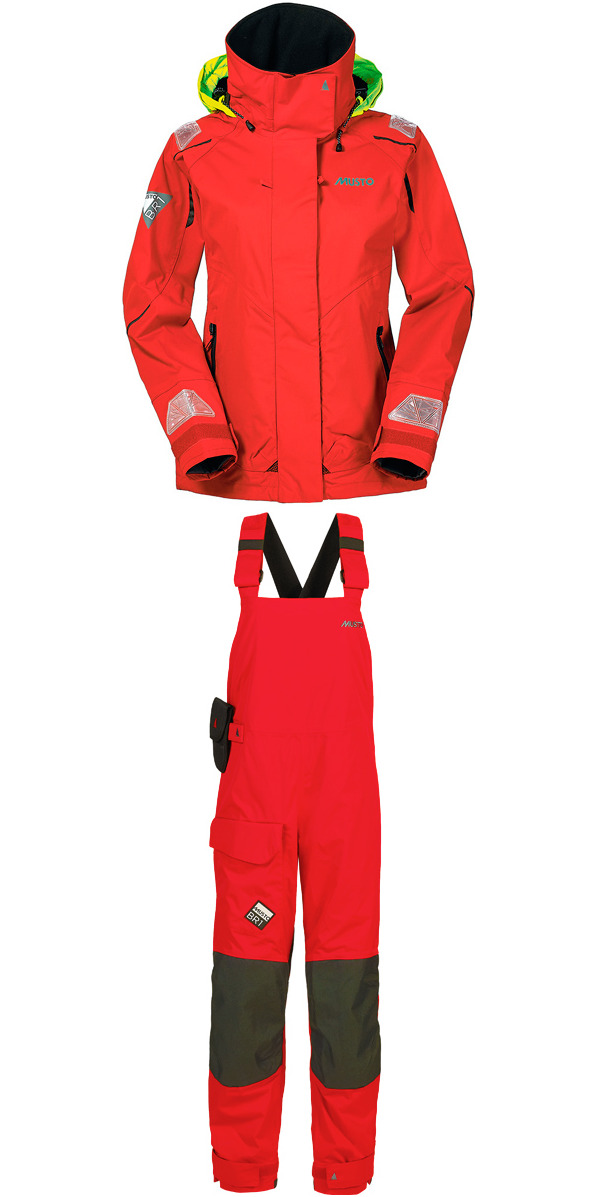 2015 Musto BR1 Ladies Channel Jacket SB129W4 & Dropseat Trouser RED SB123W4 COMBI SET