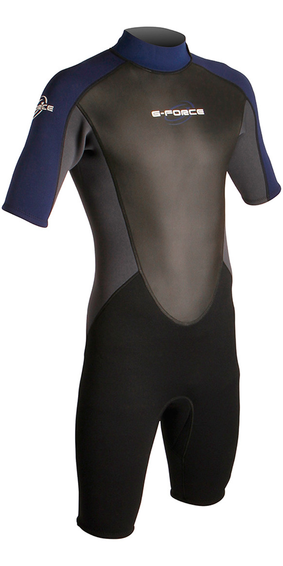 2015 Gul G-Force 3mm Mens Shorty Wetsuit Black/Navy GF3305