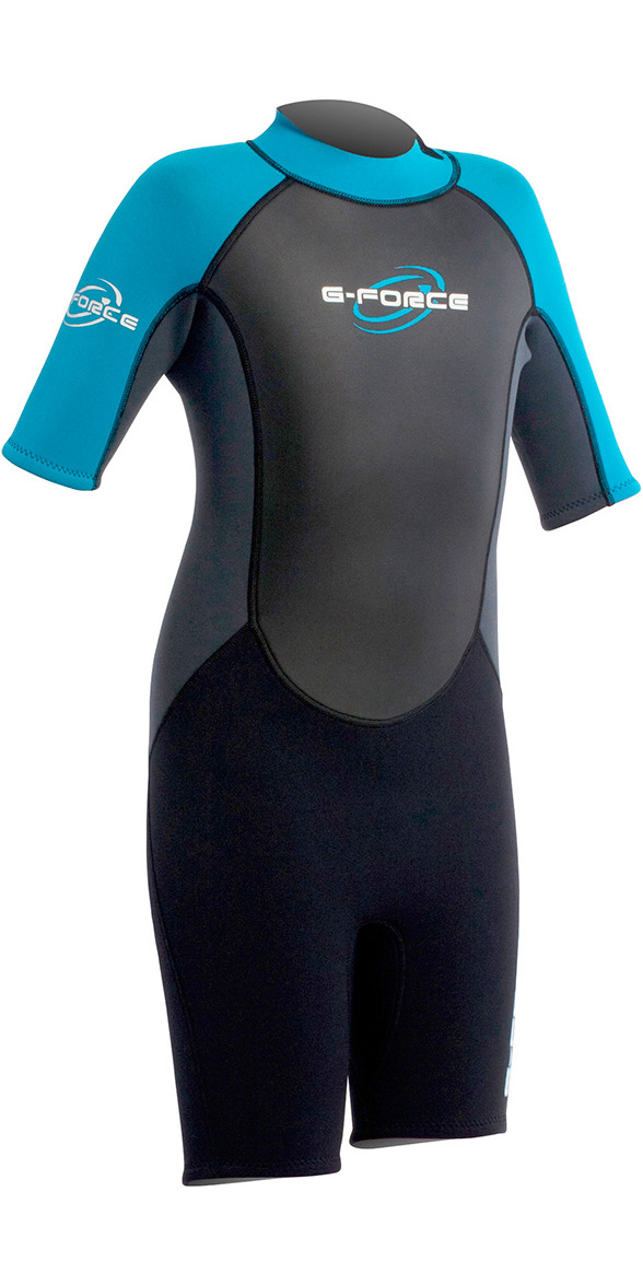 2015 Gul G-Force Junior SHORTY 3/2mm Wetsuit in BLUE GF3307
