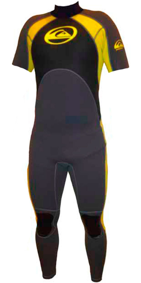 Quiksilver GS Mens 2mm Short Arm Wetsuit in Grey/Yellow GS55AS 2ND