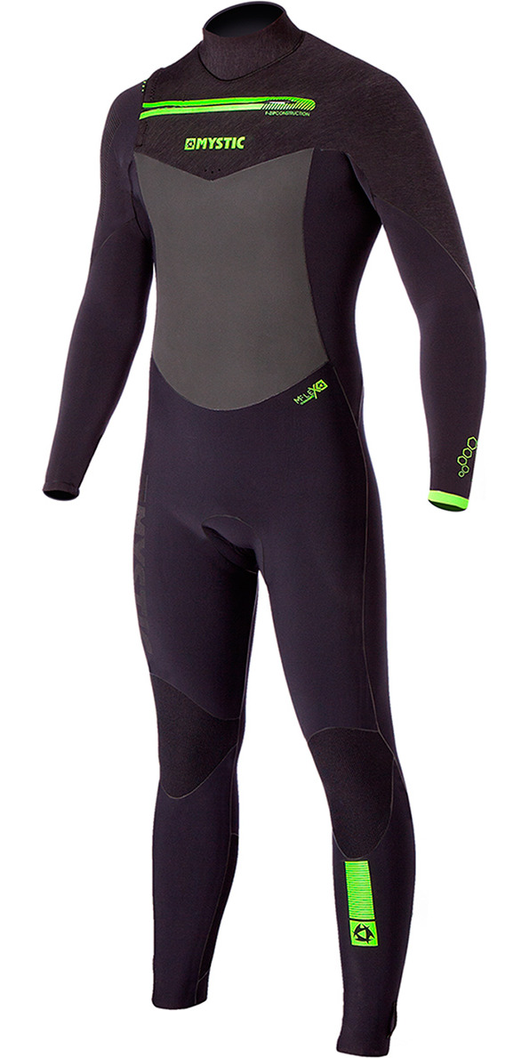 2015/16 Mystic Legend 6/4/3mm Quick Dry Chest Zip Wetsuit - Black 160000