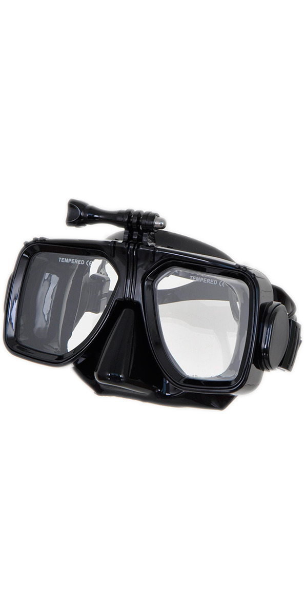 2015 Submerge Scuba/Snorkel Mask With Go Pro Fitting BLACK