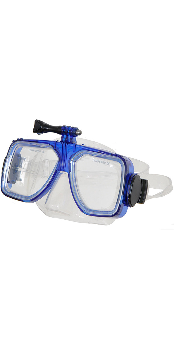 2015 Submerge Scuba/Snorkel Mask With Go Pro Fitting BLUE
