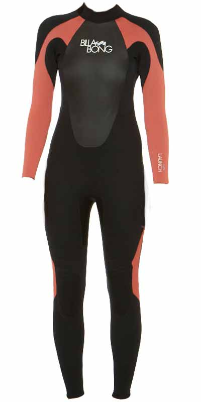 2015 Billabong Ladies Launch 4/3mm GBS Wetsuit in Black/CHERRY O44G01/G44G01