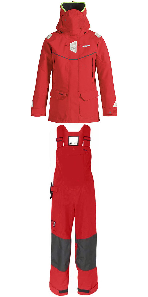 2015 Musto Ladies MPX Offshore Jacket SM151W3 & Dropseat Trouser SM150W6 Combi Set RED
