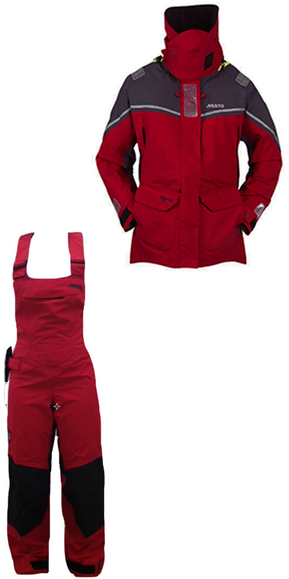 2013 Musto MPX Ladies Offshore COMBI SET Jacket SM151W2 & Trouser SM150W6 in RED
