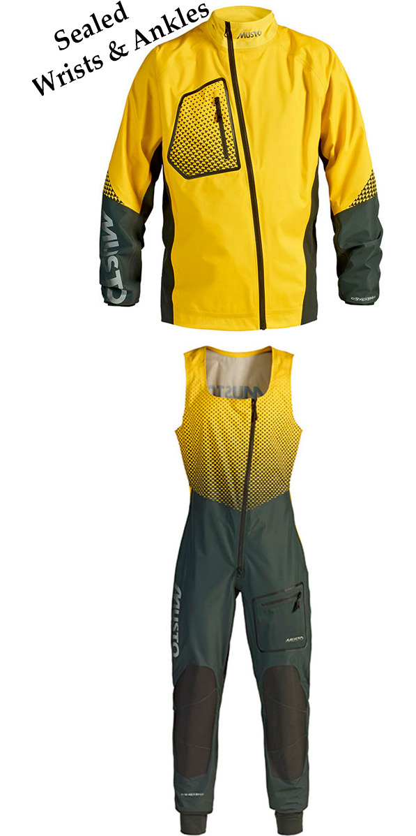2014 Musto Dynamic Jacket & Salopette Combi Set in Beacon Yellow SX0010/SX0030
