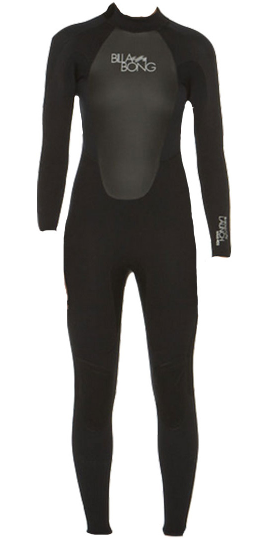 2015 Billabong Ladies Launch Flatlock 3/2mm Wetsuit in BLACK S43G03