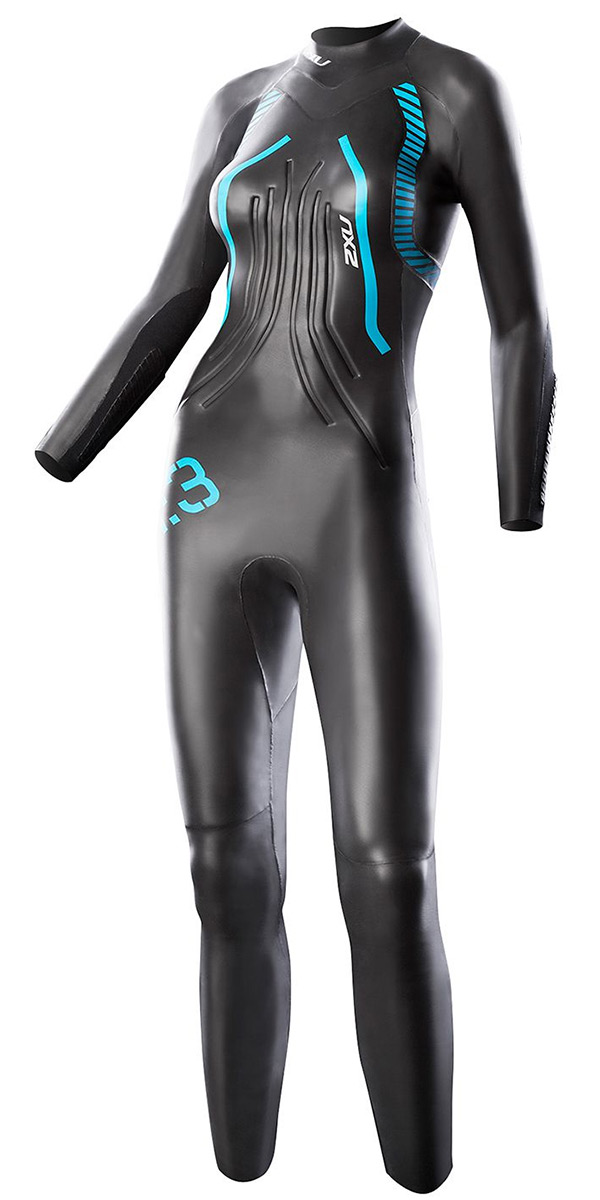 2015 2XU LADIES R:3 Race TRIATHLON  R3 wetsuit in Black/Blue WW2356