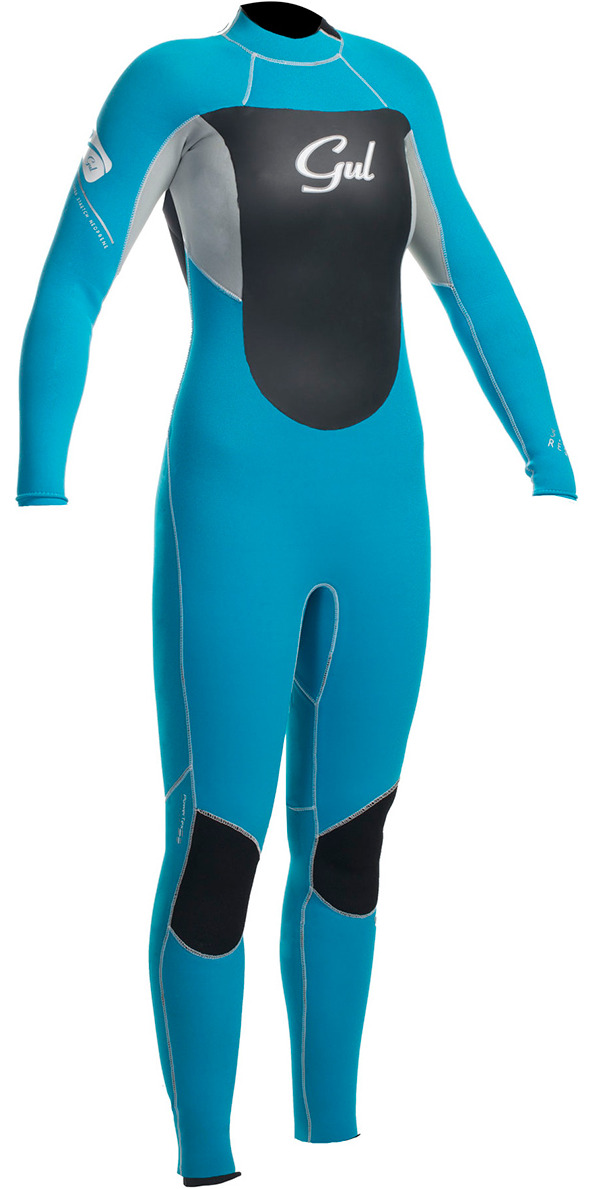 2015 Gul Response Ladies 3/2mm GBS Wetsuit Turquoise / Silver RE1232