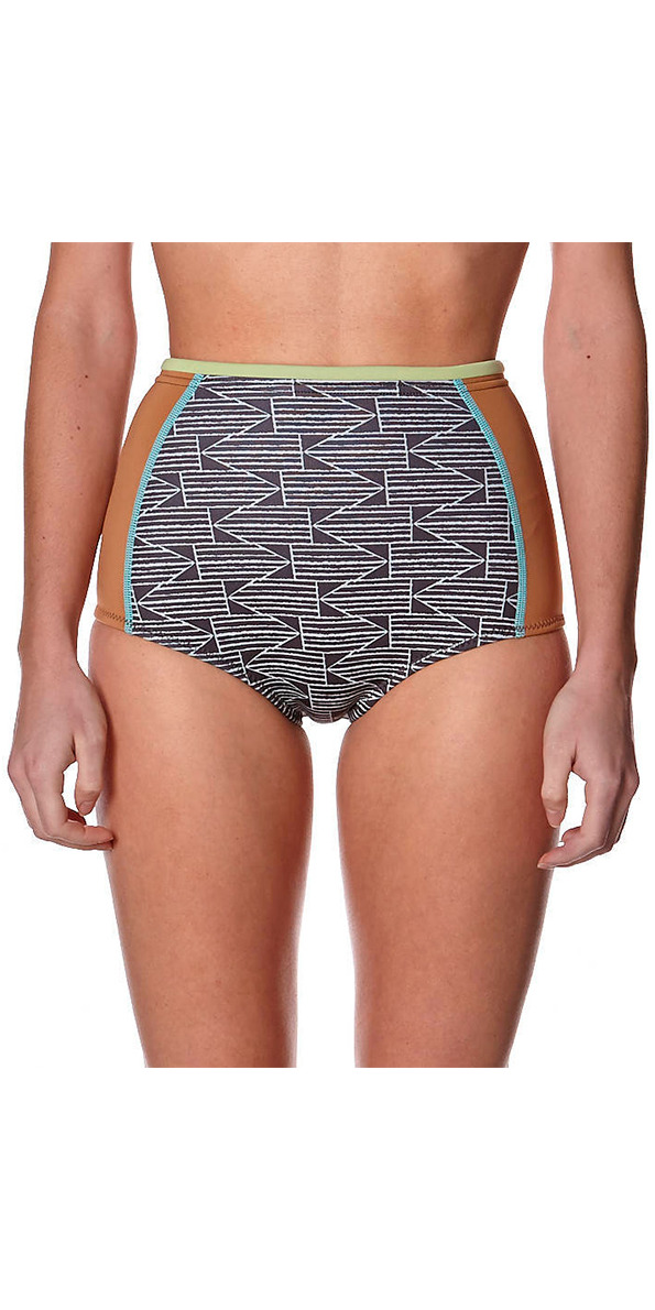 2015 Billabong Ladies 1st Point 1mm Vintage Wetsuit Shorts - Black/White S41G01